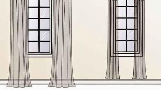 窗簾長度怎麼量比例才漂亮,窗簾布用量倍數多少才好看啊